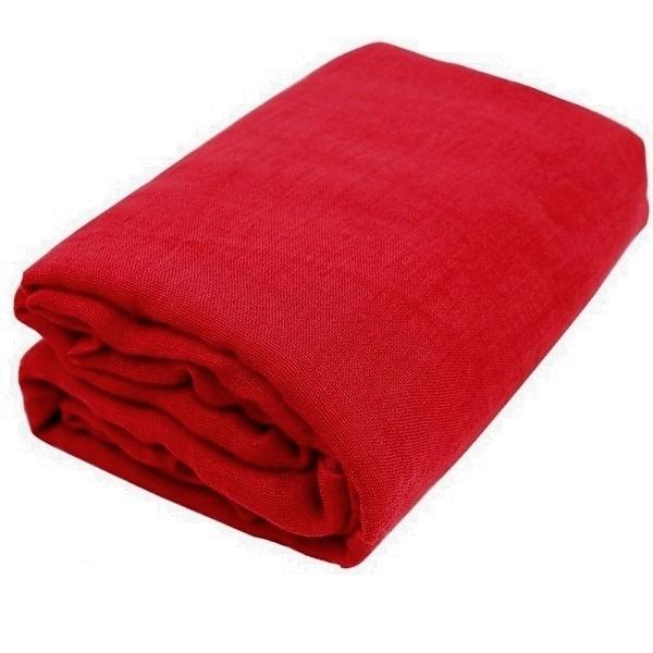 Red Gauze Fabric Bolt