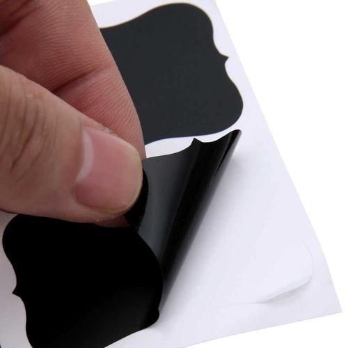 Αυτοκόλλητες ετικέτες μαυροπίνακα με κιμωλία