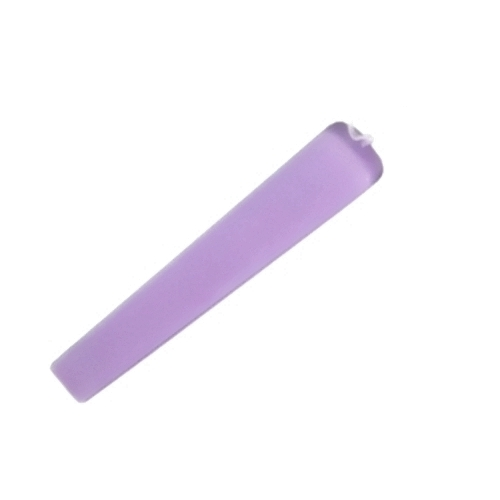 Easter candle flat shape lilac