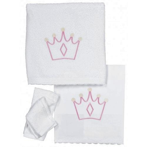 Christening Underwear and Towels Girls Set Crown