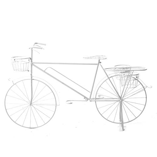 Διακοσμητικό λευκό ποδήλατο