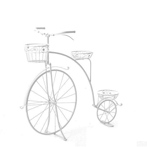 Διακοσμητικό λευκό ποδήλατο 3 θέσεων