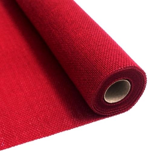 Red burlap fabric 55 cm x 5 meters