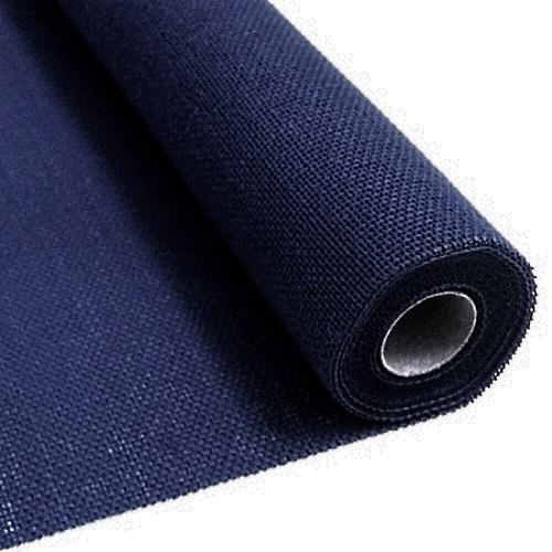 Blue burlap fabric 55 cm x 5 meters