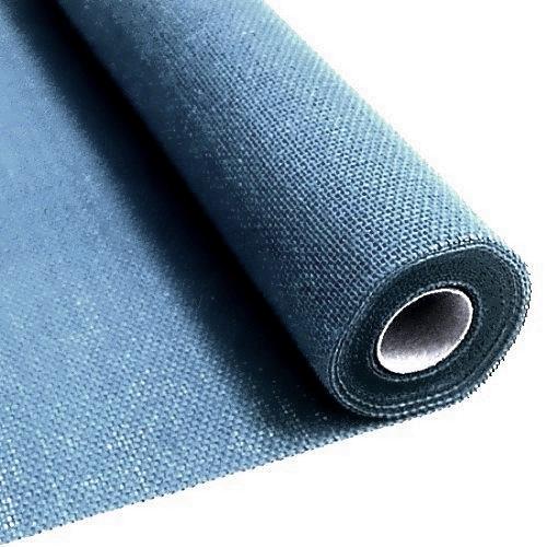 L.Blue burlap fabric 55 cm x 5 meters