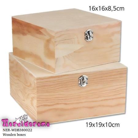 Ξύλινα κουτιά σέτ των 2