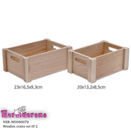 Wooden crates set of 2