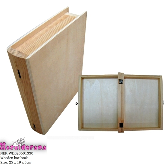 Ξύλινο κουτί βιβλίο