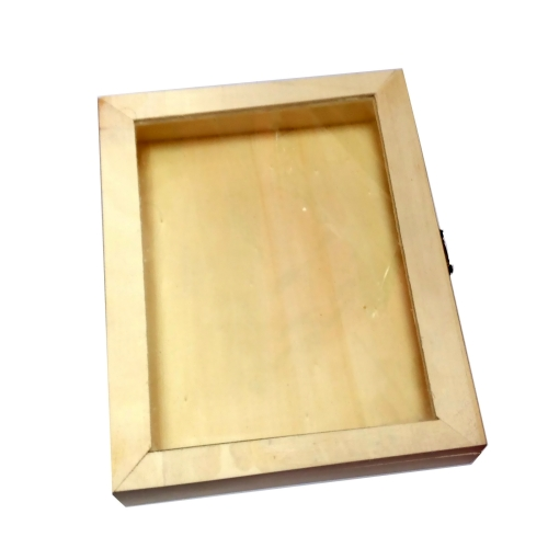 Ξύλινο κουτί με τζάμι 20 x 16 x 3.7εκ.