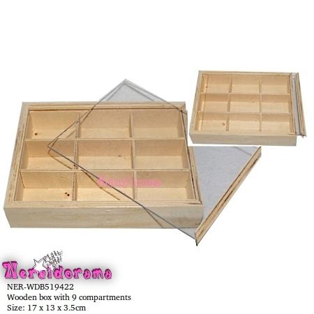 Ξύλινο κουτί με πλέξιγκλας 9 θέσεων