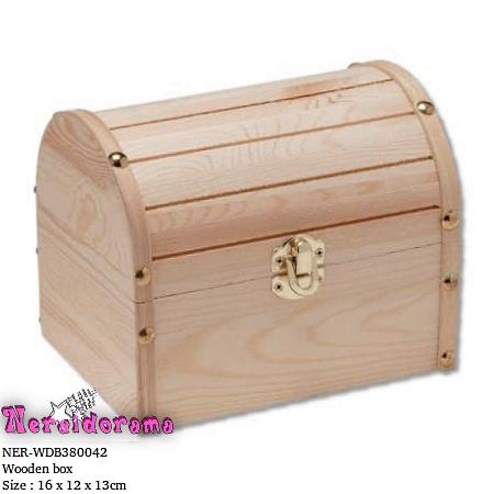 Ξύλινο κουτί μπαούλο 16 x 12 x 13εκ.