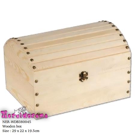 Ξύλινο κουτί μπαούλο 29 x 22 x 19.5εκ