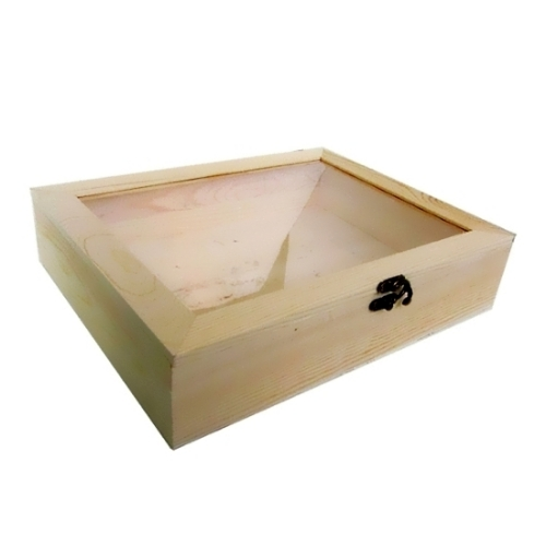 Ξύλινο κουτί με πλαστικό παράθυρο