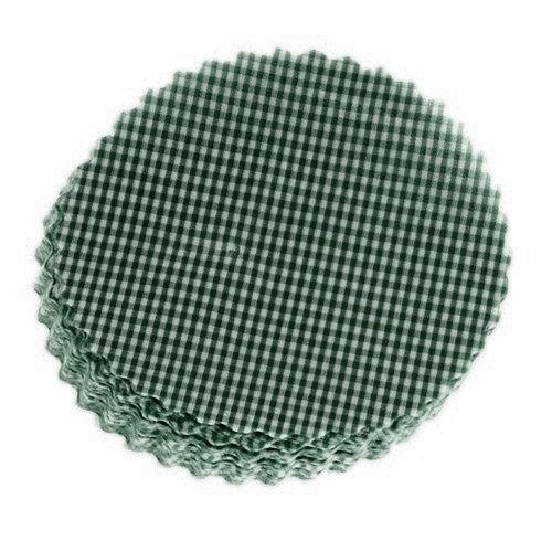 Πράσινα καρό στρογγυλά πανάκια
