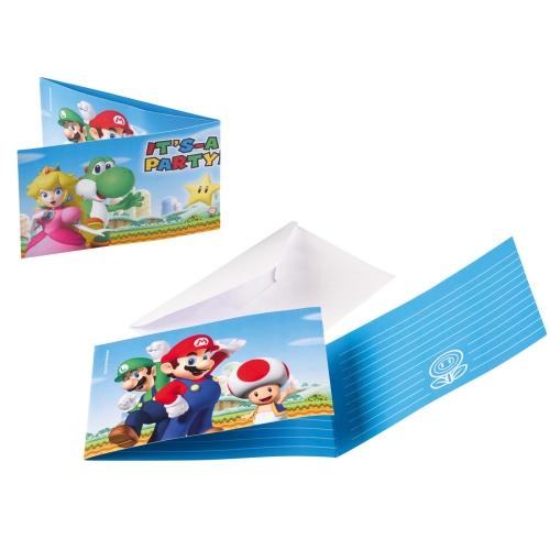 Προσκλήσεις με Φακέλους Super Mario / 8 τεμ