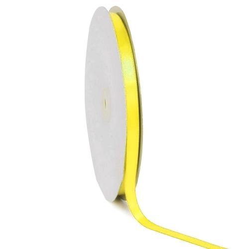 Σατέν κορδέλα μονής όψης Κίτρινο 10mm x 50m