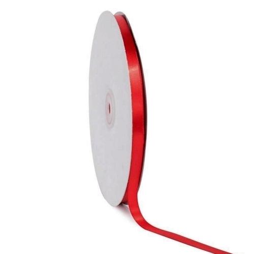 Σατέν κορδέλα μονής όψης Κόκκινο 10mm x 50m