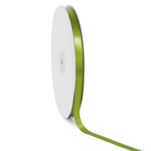 Single face satin ribbon Light green 10mm x 50m