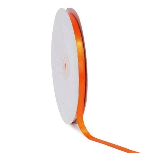 Σατέν κορδέλα μονής όψης Πορτοκαλί 10mm x 50m