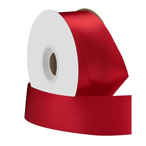 Single face satin ribbon red 38mm x 50m