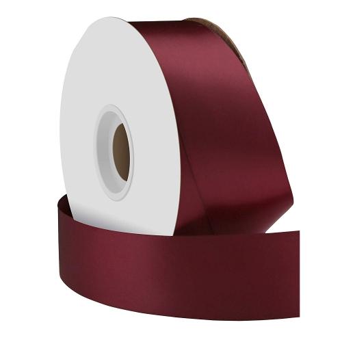 Single face satin ribbon bordeaux 38mm x 50m