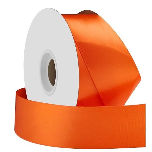 Σατέν κορδέλα μονής όψης πορτοκαλί 38mm x 50m