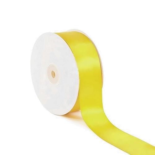 Σατέν Κορδέλα Μονής Όψης Κίτρινο 25mm x 50m