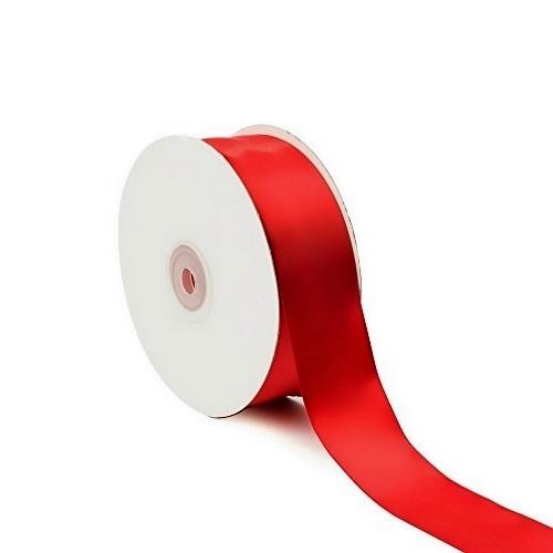 Σατέν Κορδέλα Μονής Όψης Κόκκινο 25mm x 50m