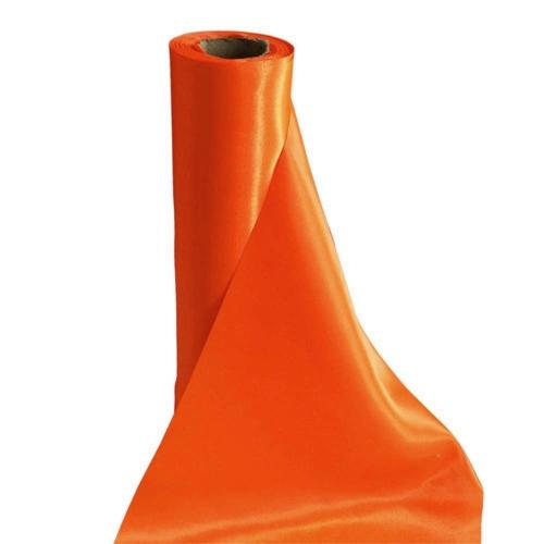 Σατέν Ταφτάς Υφασμα Πορτοκαλί