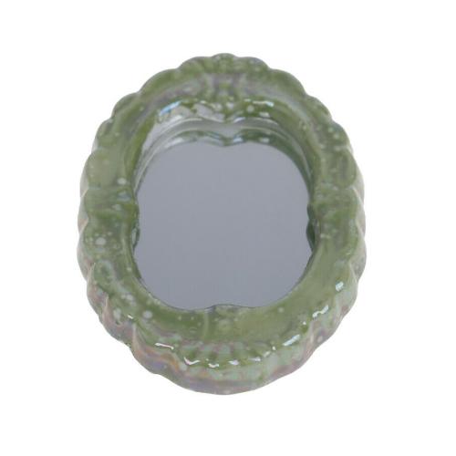 Dollhouse miniature green porcelain bathroom set toilet 1:12