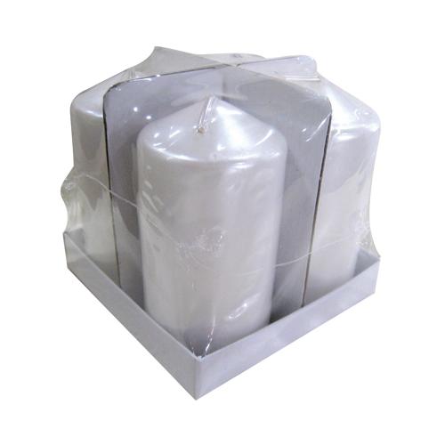 Σετ 4 λευκά κεριά