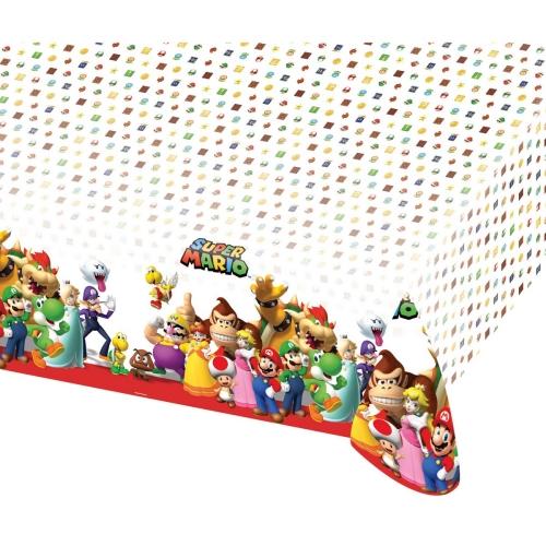 Τραπεζομάντηλο πλαστικό Super Mario 1.8 X 1.2μ