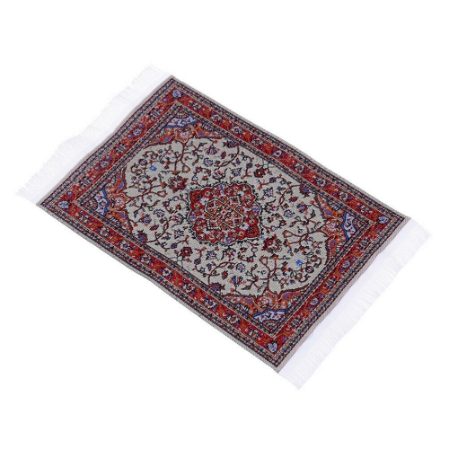 Dollhouse miniature embroidered floor carpet