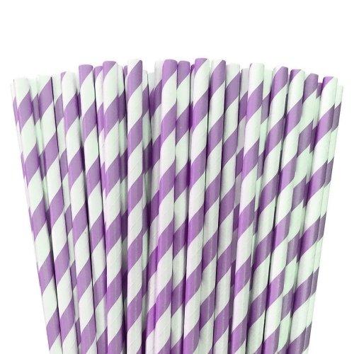 Levander paper striped straws