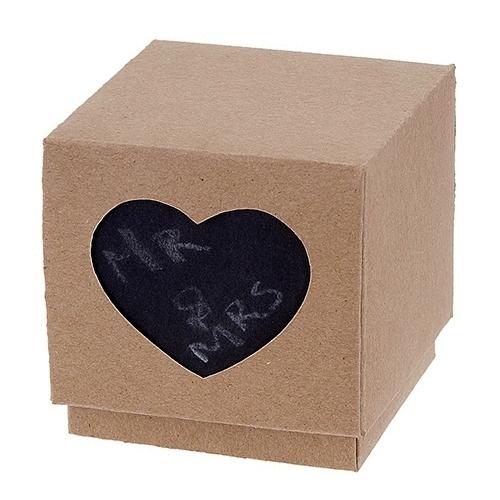 Χάρτινο κουτί κράφτ καρδιά μαυροπίνακας