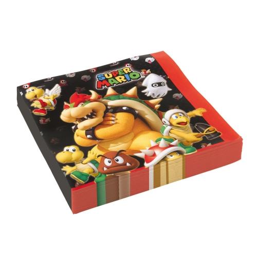 Χαρτοπετσέτες Super Mario 33εκ. 20 τεμ