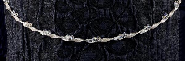 Ασημένια Στέφανα Γάμου 925° Διαμανταριστό