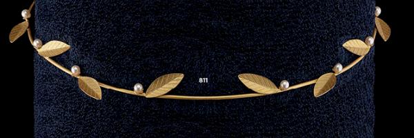 Ασημένια Στέφανα Γάμου 925° Επίχρυσα Με Κλαδί Ελιάς