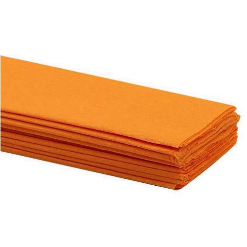 Orange Crepe Paper 50 x 2m