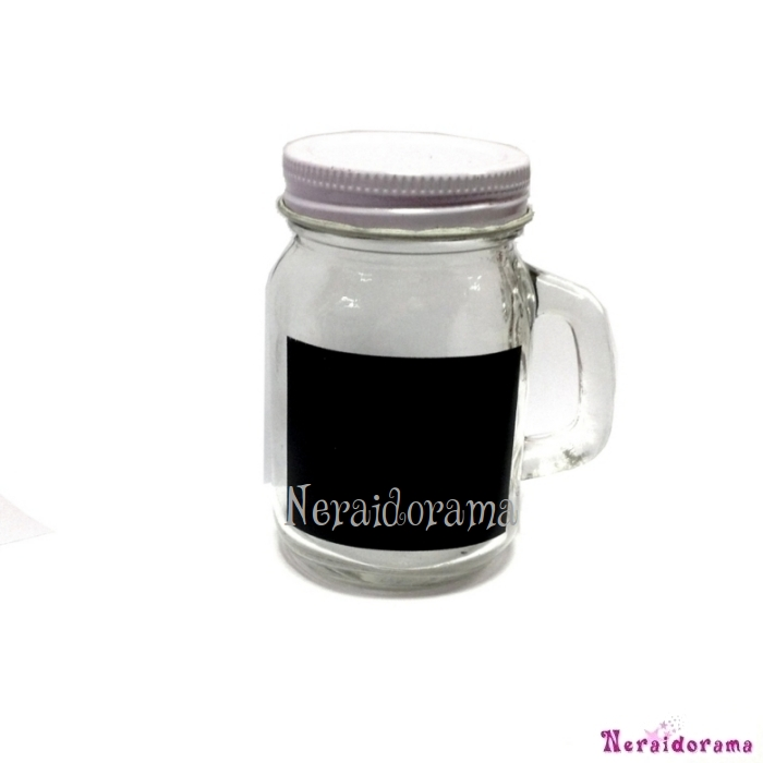 Glass jar with chalkboard label  120ml