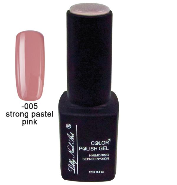 Ημιμόνιμο τριφασικό μανό 12ml - Strong pastel pink