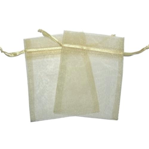 Πουγκιά Oργάντζας Ιβουάρ 10 x 12εκ. Συσκευασία 100 τεμάχια