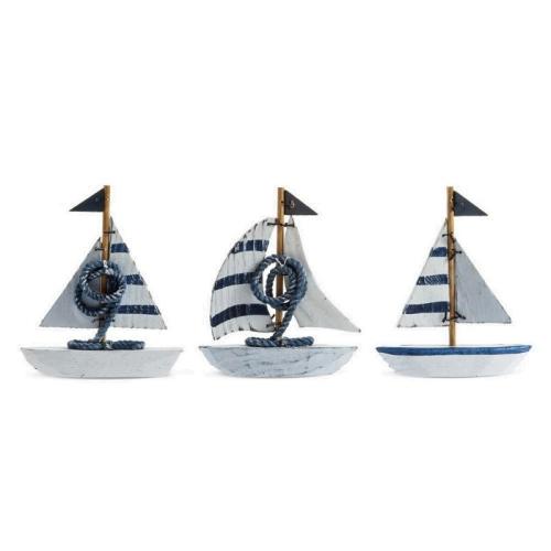 Ξύλινο Καράβι Μπομπονιέρα