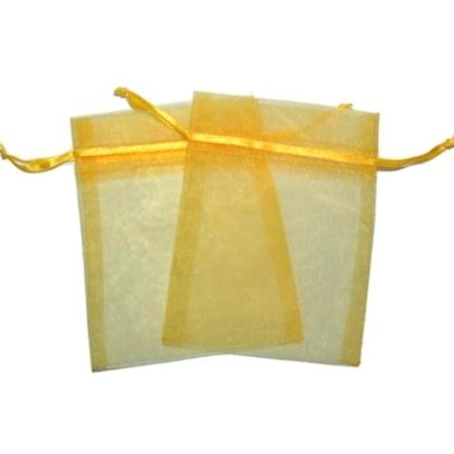 Πουγκιά Oργάντζας Κίτρινο 10 x 12εκ. Συσκευασία 100 τεμάχια