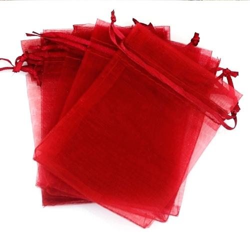Κόκκινα Πουγκιά Oργάντζας 23 x 35εκ. Συσκευασία 100 τεμάχια