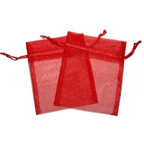 Πουγκιά Oργάντζας Κόκκινο 10 x 12εκ. Συσκευασία 100 τεμάχια