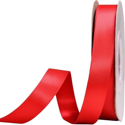 Κορδέλα Σατέν Διπλής Όψης Κόκκινο 15mm x 50μ.