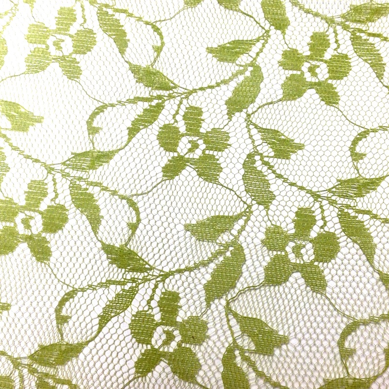 Lace fabric roll 44cm x 20meters L.green