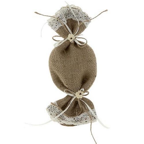 Μπομπονιέρα γάμου λινάτασα καραμέλα