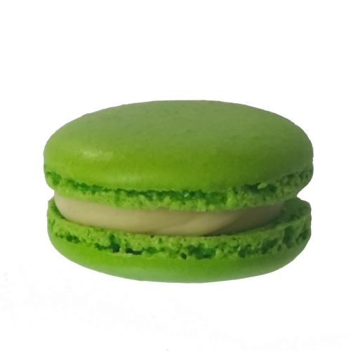 Γαλλικά Πράσινα Μακαρόν Με Κρέμα Βανίλια Μαδαγασκάρης
